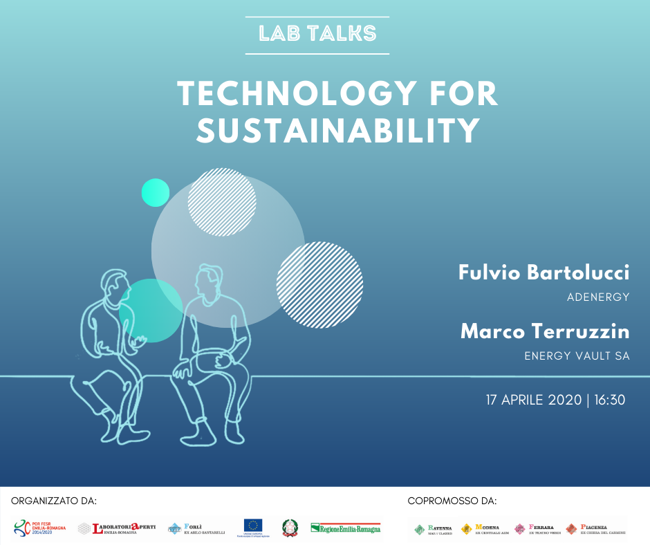 "LAB TALKS ""TECHNOLOGY FOR SUSTAINABILITY"" 